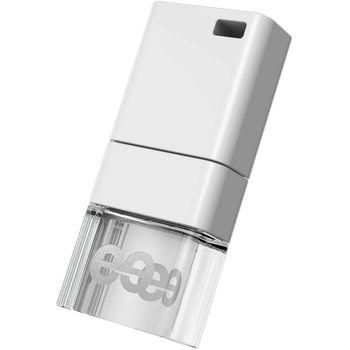 Leef USB 64GB Ice 2.0, bílá