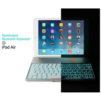 Brando bezdrátová Bluetooth klávesnice s podsvícením pro iPad Air, černá