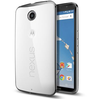 Spigen tenký kryt Ultra Hybrid pro Motorola Nexus 6, šedá