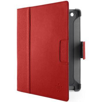 Belkin iPad 3 pouzdro Cinema Leather Folio s funkcí Autowake, červené (F8N757cwC01)