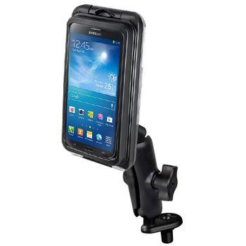 RAM Mounts univerzální vodotěsný držák na velké telefony na motorku, AQUABOX® Pro 20 s úchytem na motorku na řídítka do středu vidlice, sestava RAM-B-176-AQ7-2CU