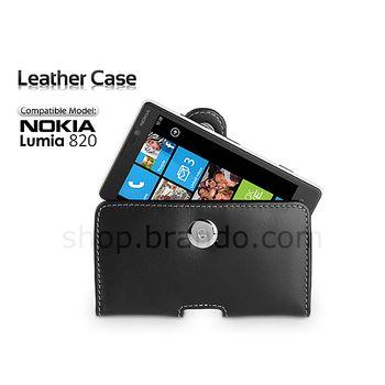 Pouzdro kožené Brando Pouch - Nokia Lumia 820