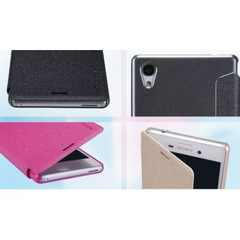 Nillkin pouzdro Sparkle Folio pro Sony E2303 Xperia M4 Aqua, růžové