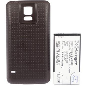 Baterie pro Samsung Galaxy S5 5600mAh rozšířená tmavý kryt