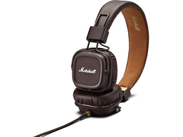 obsah balení Marshall Major II Stereo Headset hnědé