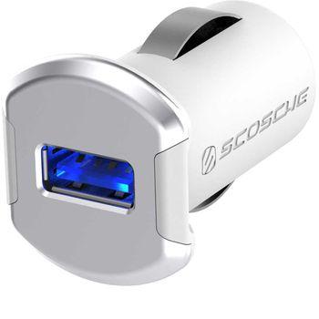 Scosche reVolt autonabíječka USB 2,4A bílo-stříbrná