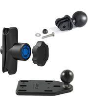 RAM Mounts adaptér pro outdoorové kamery GoPro Hero s ramenem se zabezpečením na motorku na nádržku brzdové kapaliny, sestava RAM-B-183-GOP1-KNOB3U