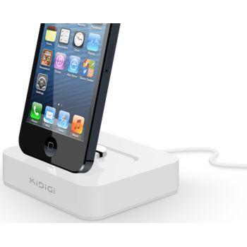 Kidigi kolébka pro telefony a tablety Apple s Lightning konektorem, bílá