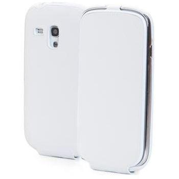 ANYMODE kožené pouzdro typu kniha pro Samsung Galaxy S4, bílé