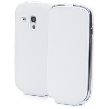 ANYMODE kožené pouzdro flap pro Samsung Galaxy S3 Mini, bílé