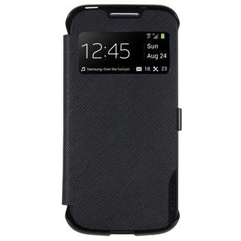 ANYMODE pouzdro typu kniha pro Samsung Galaxy S4 Mini s funkcí S-View, PU kůže, černé