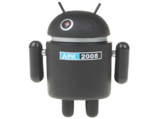 obsah balení Figurka Android robot - černý