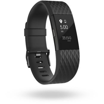 Fitbit Charge 2 velikost L, černá/gunmetal