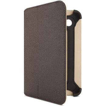 Belkin Bi-Fold Folio pouzdro pro Samsung Galaxy Tab 2 7.0, PU hnědá kůže (F8M386cwC01)