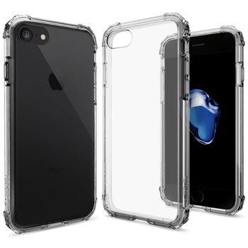 Spigen ochranný kryt Crystal Shell pro iPhone 7, průhledná-šedá