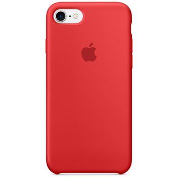Apple silikonový kryt pro iPhone 7, červený