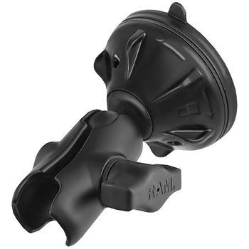 """RAM Mounts sestava pro držák s 1"""" čepem s krátkým ramenem a vysoce kvalitní přísavkou Ø 70 mm, RAM-B-166-2-AU-NB"""