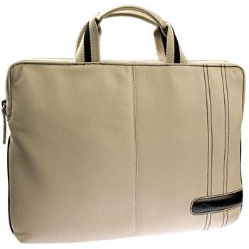 """Krusell Gaia Laptop Slim taška na notebook - do 16"""" - krémová/černá"""