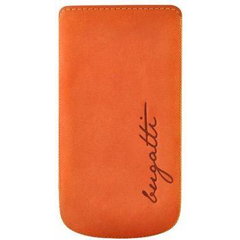 Bugatti Perfect Velvety leather case pro Samsung Galaxy S III (i9300) - oranžové