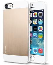 Spigen pouzdro Saturn Champagne gold pro iPhone 5/5S, bílo-zlatá