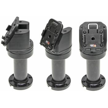 Brodit set otočného montážního podstavce a MultiMove clipu, výška 165 mm, sklon 60°, černý