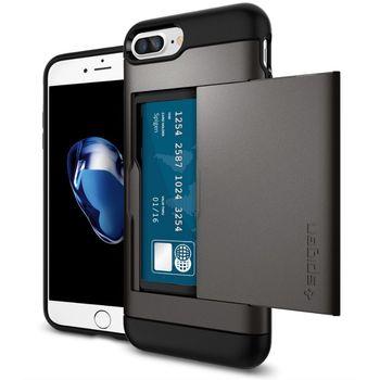 Spigen ochranný kryt Slim Armor CS pro iPhone 7 plus, kovově šedá
