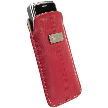 Krusell pouzdro Luna M - Nokia C5/6303/N96/X3, Sony Ericsson mini/Vivaz (Pro) 105x55x15 (červená)