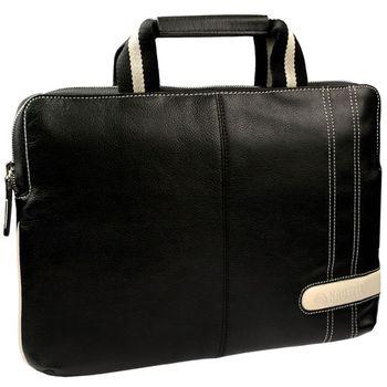 """Krusell Gaia Laptop Slim taška na notebook - do 16"""" - černá/krémová"""