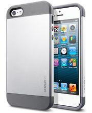 Spigen pevné pouzdro Slim Armor pro iPhone 5/5S, stříbrné