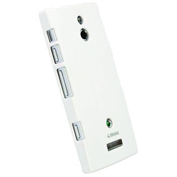 Krusell hard case - ColorCover - Sony Xperia P  (bílá metalíza)