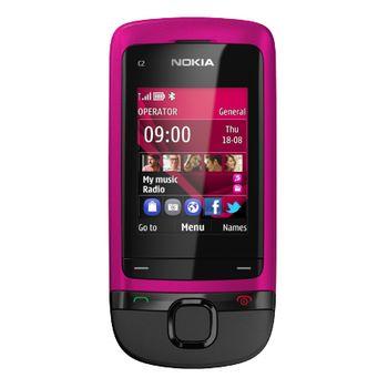 Nokia C2-05 růžová