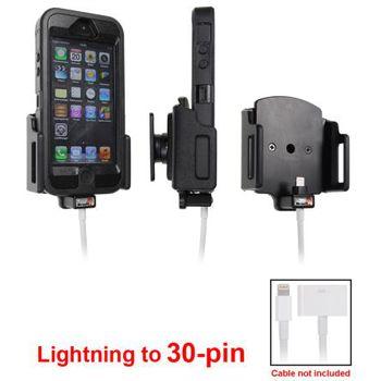 Brodit držák do auta na iPhone 5/5S/5C/SE v pouzdru, nastavitelný, s průchodkou pro Lightning kabel