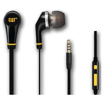 CAT sluchátka s ovládáním hlasitosti - černá