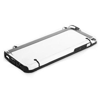 Brando zadní transparentní kryt s gumovým lemováním pro iPhone 5C, černá