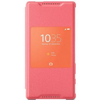 Sony flipové pouzdro Style Cover Window SCR44 pro Xperia Z5 Compact, růžové