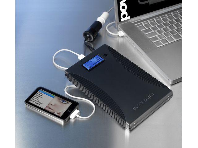obsah balení Powergorilla - záložní zdroj a nabíječka 21000mAh s redukcí L71D 8mm pro notebooky Lenovo