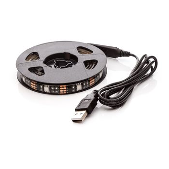 LED pásek 110cm, do USB, 33 diod, přepínač, 20 barev, samolepící