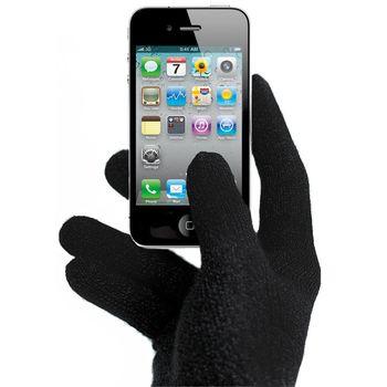 Zimní rukavice vel. L pro iPhone, iPad, HTC, Samsung, LG, Motorola, SonyEricsson - černé