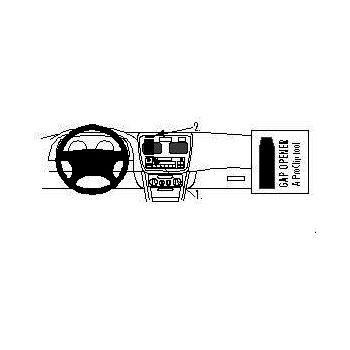 Brodit ProClip montážní konzole pro Toyota Corolla 1998 - 2002, na střed