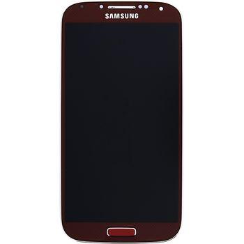 Náhradní díl LCD displej s dotykovou vrstvou + přední kryt pro Samsung i9506 Galaxy S4 LTE, červená