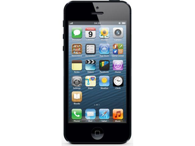obsah balení iPhone 5 16GB černý + Cookoo watch černo-stříbrné
