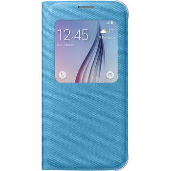 Samsung flipové pouzdro S-View EF-CG920BL pro Galaxy S6, textilní, modrá
