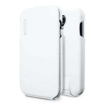 Spigen flipové kožené pouzdro Argos pro Galaxy S4, bílá