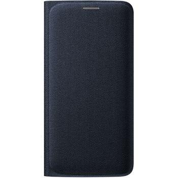 Samsung flipové pouzdro s kapsou EF-WG925BB pro Galaxy S6 Edge, textilní, černá