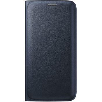 Samsung flipové pouzdro s kapsou EF-WG925PB pro Galaxy S6 Edge, imitace kůže, černá