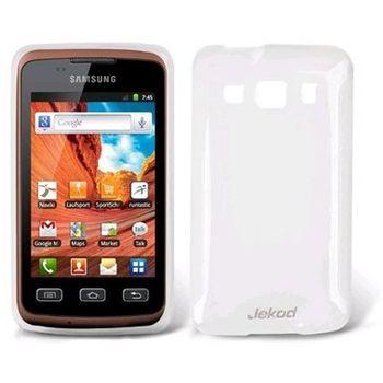 Jekod TPU silikonový kryt S5690 Galaxy Xcover, bílá