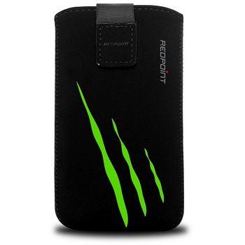 Fixed pouzdro Velvet s motivem Green Scratch, velikost XXL, černá