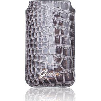 Guess Crocodile kožené pouzdro iPhone 4/4S, šedé