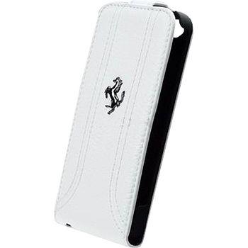 Ferrari Flip kožené pouzdro pro iPhone 5, bílé