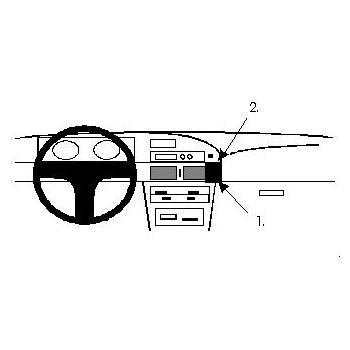 Brodit ProClip montážní konzole pro Toyota Corolla 88-92, na střed